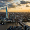 London from above at sunset