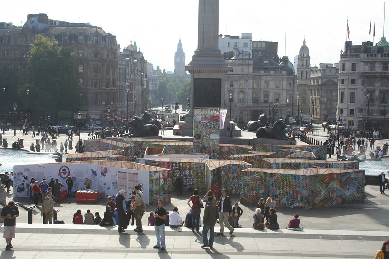 The LomoWorldWall in Trafalgar Square