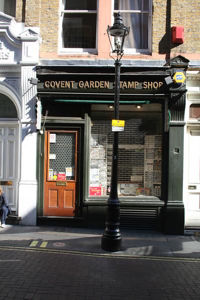 Covent Garden Stamp Shop on Bedfordbury