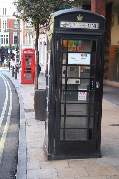 Not all phoneboxes are red!!