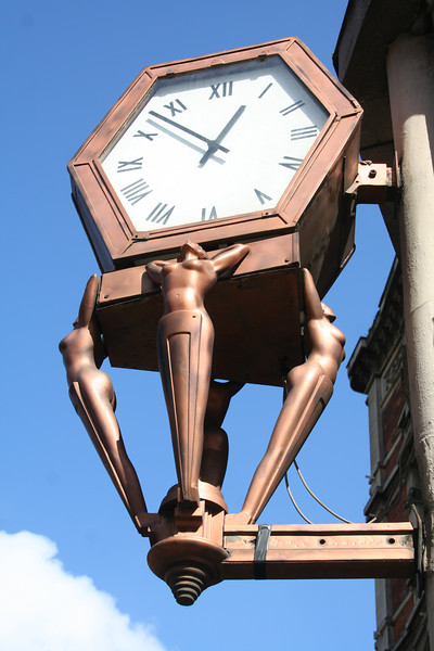 Old shop clock for a gentleman's outfitters