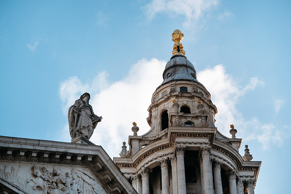 Detail of St Paul's cathedral London