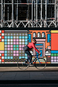 Riding a bicycle in Hoxton London