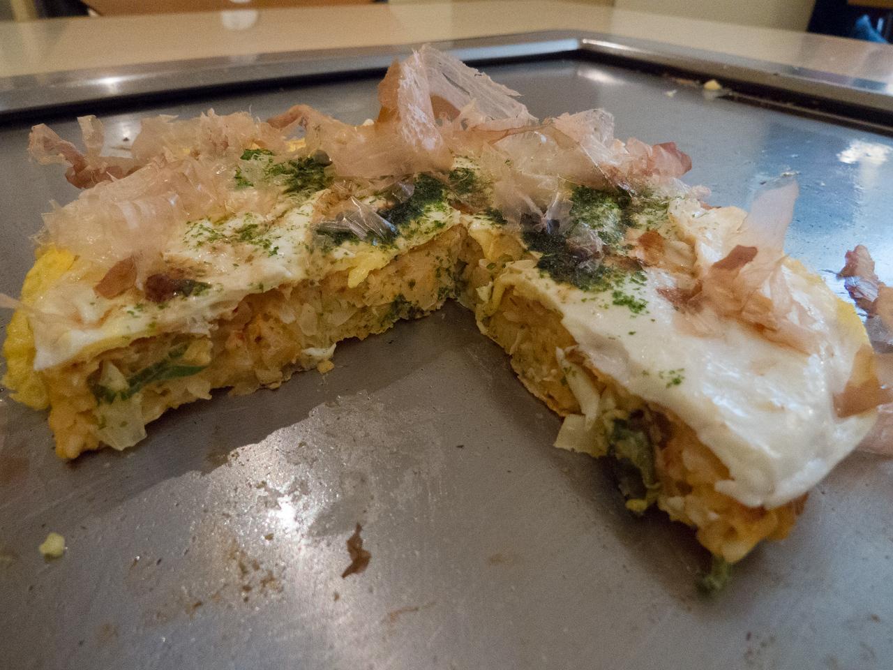 Okonomiyaki at Abeno