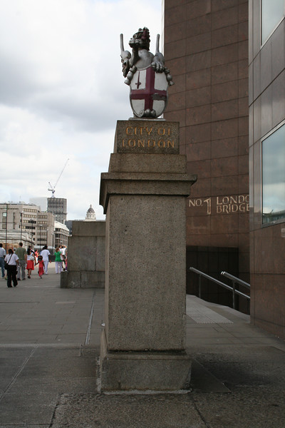 City of London sign on south side of London bridge