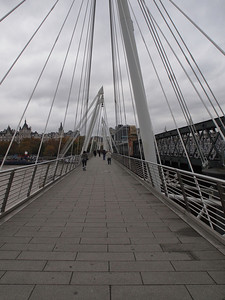 Hungerford Bridge 2002 and Golden Jubilee Bridges, London