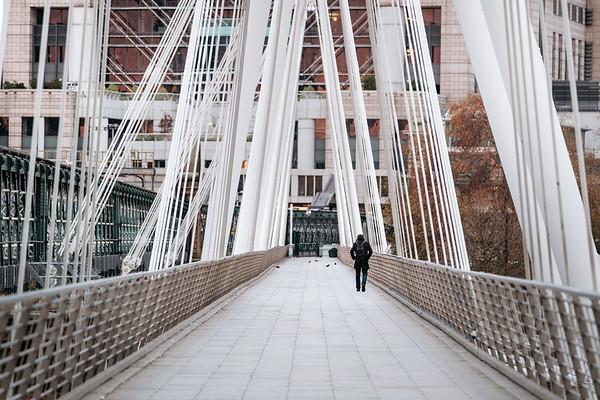 Walking on the Golden Jubilee Bridges London