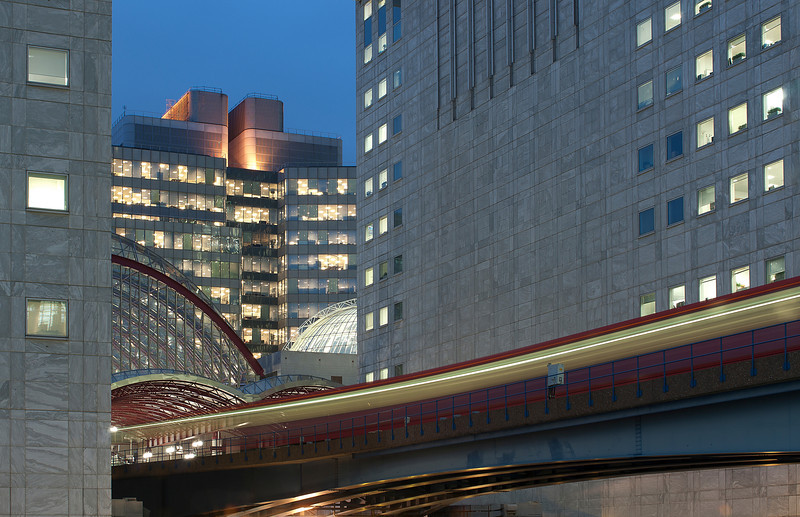 Canary Wharf DLR station.