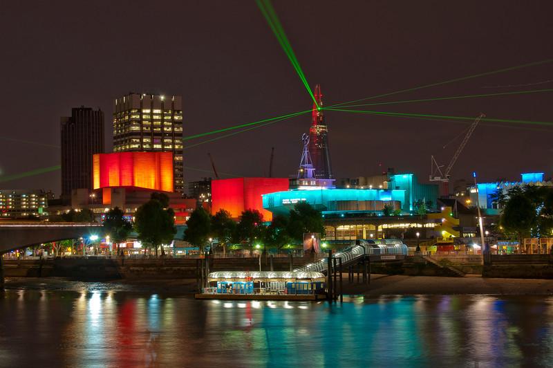 Shard opening ceremony, London, England 2012.