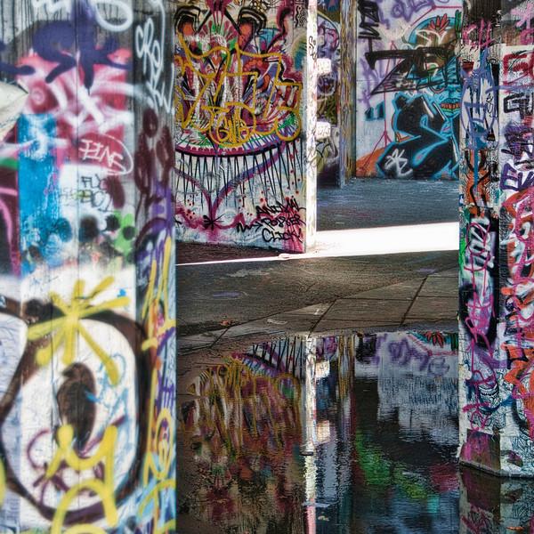 Skate Spot Graffiti, Southbank , London.