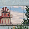 Helter Skelter reflection at the Thames Festival. Southbank, London.
