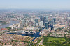 Aerial photo of The Isle of Dogs.