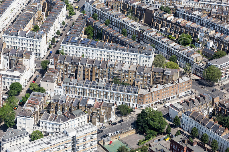 Aerial photo of Pimlico.