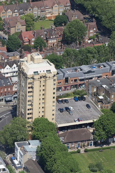 Aerial photo of 355 King's Road, Chelsea.