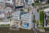 Aerial photo of Trinity Square and Three Quays Walk.