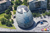 Aerial photo of London City Hall.
