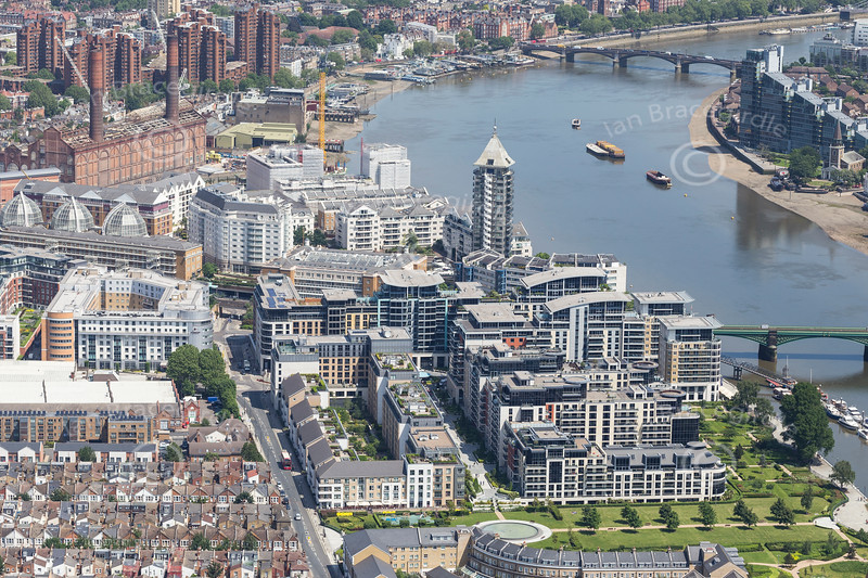 Aerial photo of Imperial Wharf in Chelsea.
