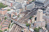 Aerial photo of the area around Victoria Station.