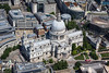 Aerial photo of St Paul's Cathedral.