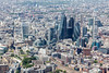 Aerial photo of the City of London.