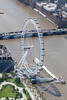 Aerial photo of The London Eye.