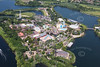 Aerial photo of Thorpe Park.