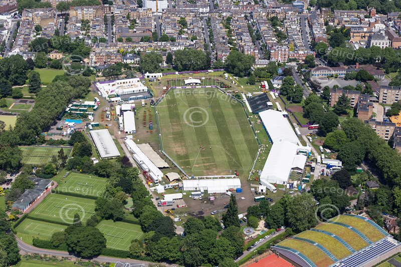 Aerial photo of The Hurlingham Club.