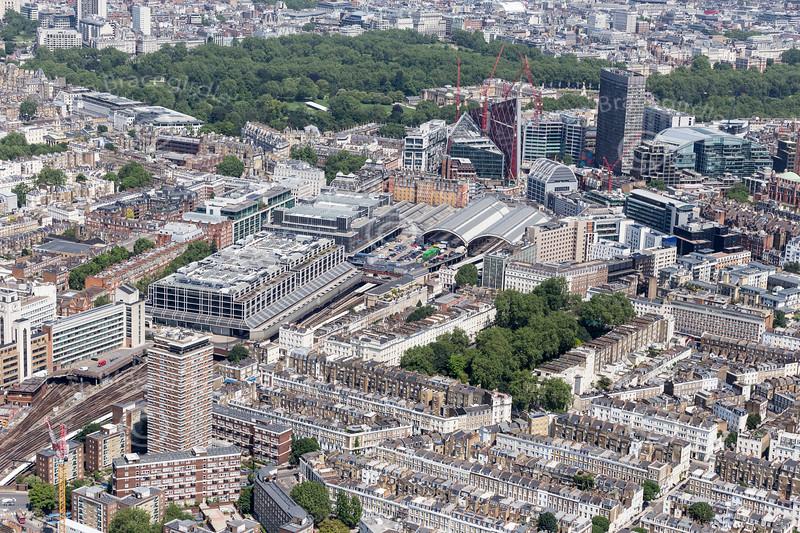 Aerial photo of Ecclestone Square area of Pimlico.
