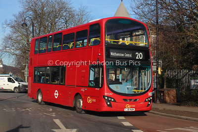 WVL457, LJ61NUM, London General