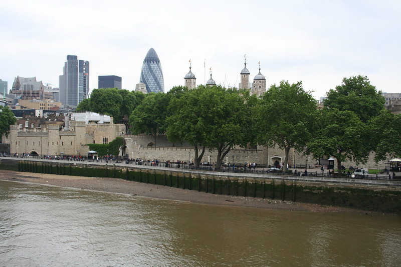 View of Tower of London from Tower Bridge