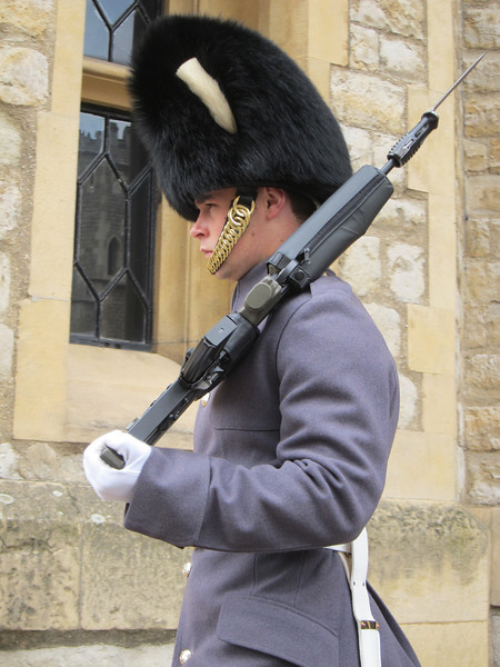 Guard at Hampton Court Palace