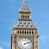 "Big Ben, Elizabeth Tower, Palace of Westminster <br><br> Big Ben is one of the most recognizable buildings in the world. The dials are about 23 feet in diameter and made from cast iron. Each dial contained 312 separate pieces of pot opal glass, which has an opaque finish.  <br><br> A competition was held in 1846 to decide who should build the clock; however, the project was not completed until 1859. One reason for the delay was demanding standards for the clock put in place by Astronomer Royal Sir George Airy, who insisted that the first stroke of each hour must be accurate to within one second and the clock's performance must be telegraphed twice a day to Greenwich Observatory. Edmund Beckett Denison, a barrister and a gifted amateur clockmaker was appointed to design the clock. Denison made many refinements to the clock including inventing the Double Three-legged Gravity Escapement. This was a revolutionary mechanism that enhanced the clock's accuracy by ensuring that its pendulum was unaffected by external factors such as wind pressure on the clock's hands. This invention has been used in many clocks worldwide.  <br><br> The clock was installed in April 1859. However, the clock did not work because the cast-iron minute hands were too heavy. They were replaced by lighter copper hands and began keeping time in May 1859.  <br><br> The Great Bell in the tower is known as Big Ben. Two candidates exist for the name's origin: Sir Benjamin Hall, the First Commissioner for Works from 1855-1858 or Ben Caunt, a champion heavyweight boxer of the 1850s, with the first candidate more likely.  <br><br> The first bell that was cast cracked. The second bell was lighter, but took 30 hours to winch to the top in October 1858. The bell rang for the first time in July 1859 but cracked in September 1859. In 1863 a solution was found by turning the bell a quarter turn so the hammer would hit in a different spot. Also the hammer was replaced by a lighter version and a small square was cut into the bell to prevent the crack from spreading. <br><br> See the<a href=""http://www.parliament.uk/about/living-heritage/building/palace/"">Parliament website</a> for more detail."