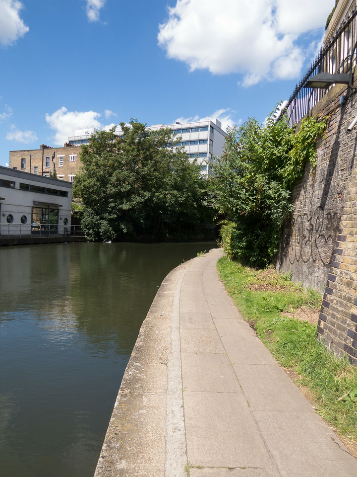 Walking along the canal