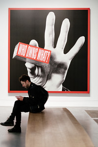 Barbara Kruger's 2012 artwork 'Who Own What?'