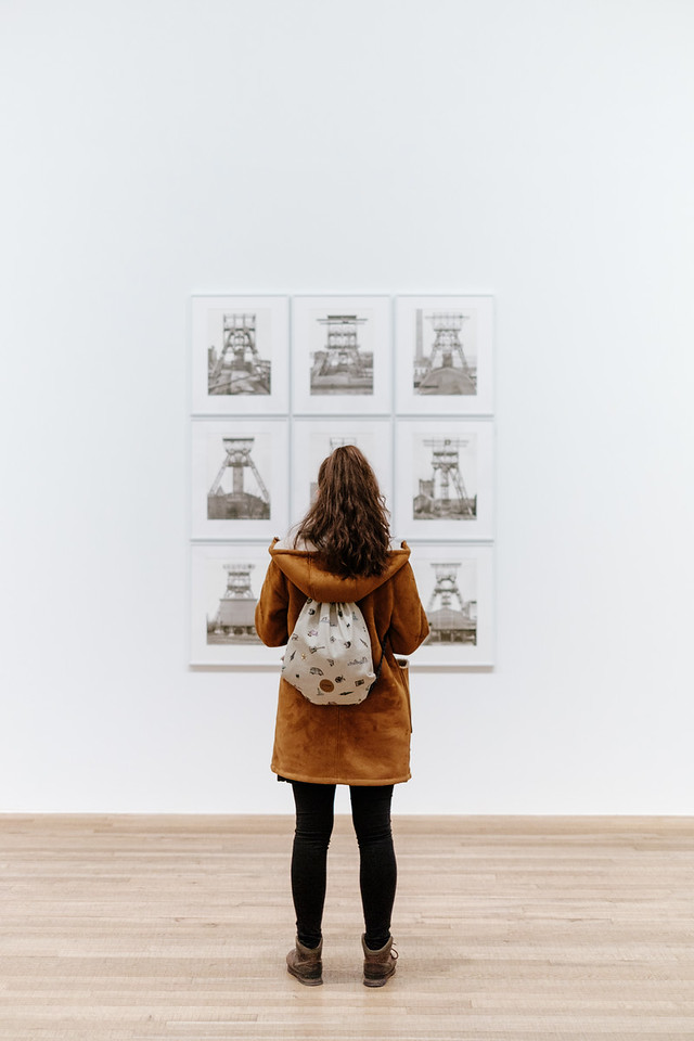 Looking at Bernd and Hilla Becher work at the Tate modern museum London
