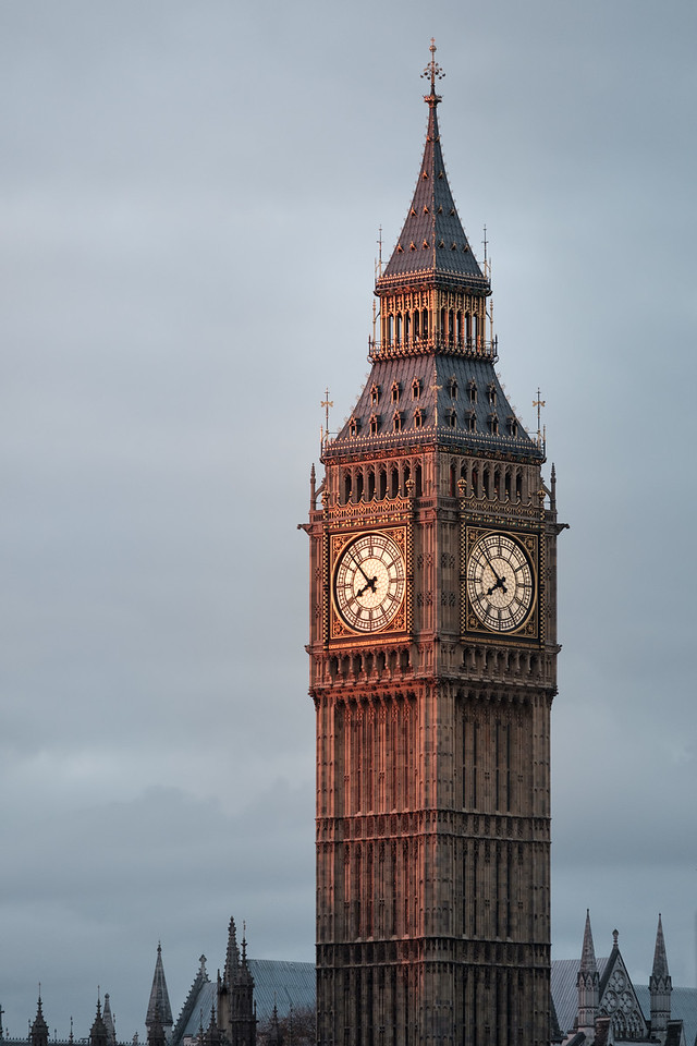 The Big Ben at sunrise, London