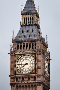 Detail of the Big Ben clock in London