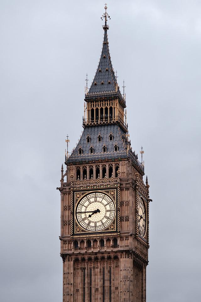 Detail of the Big Ben clock in London