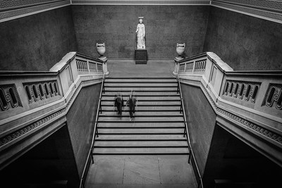Stairs and Statues