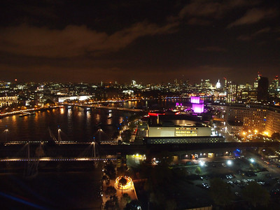 View from 'The London Eye' at night. Photo: Martin Bager.