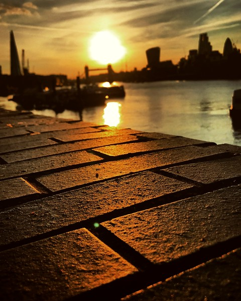 Golden Bricks on the South Bank of the Thames. 2017.