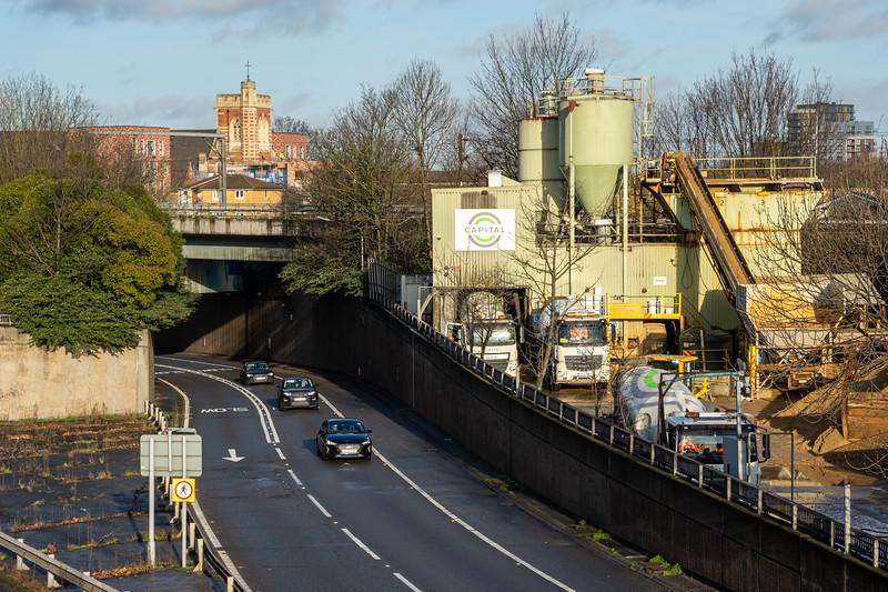 Concrete plant in East London