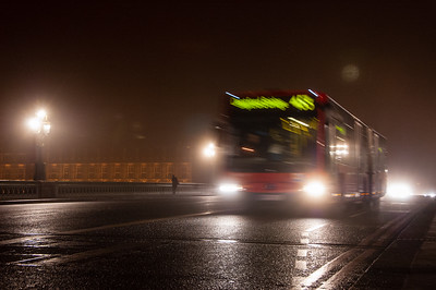 453 bus on Westminster Bridge