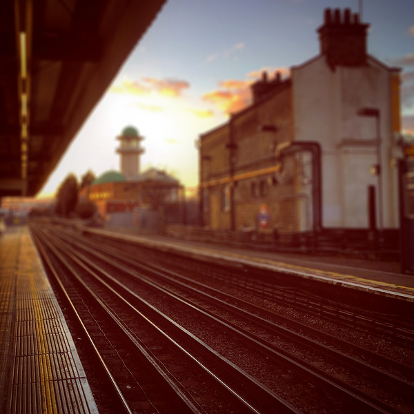 Willesden Green Tube Station at Sunset. 2015.