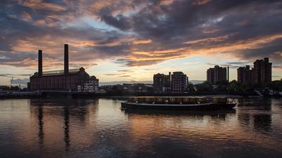 Sunset at Chelsea riverside