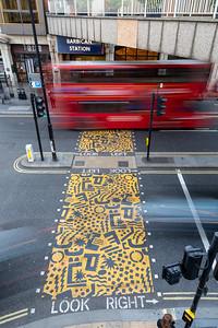 Barbican station pedestrian crossing