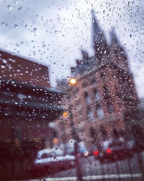 Rain on window. 2016.