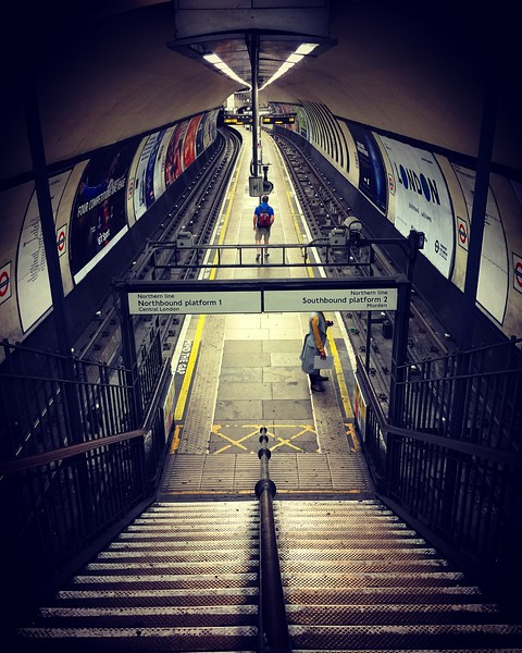 Clapham Common Station from the Steps. 2016.
