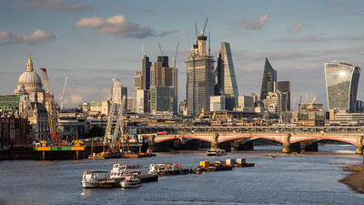 City of London skyline in summer
