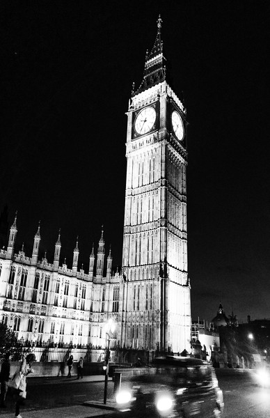 Big Ben at Night/Black and White